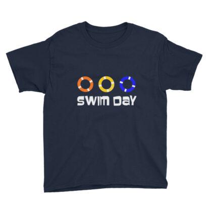 swim day summer kids tee